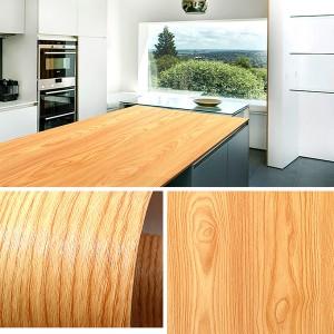 Wooden Pattern Multipurpose Bedroom Kitchen Decor Sticker - Skin
