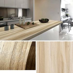 Wooden Pattern Multipurpose Bedroom Kitchen Decor Sticker - Khaki
