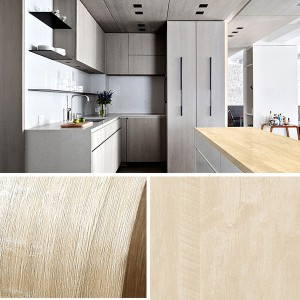 Wooden Pattern Multipurpose Bedroom Kitchen Decor Sticker - Light Khaki