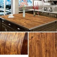 Wooden Pattern Multipurpose Bedroom Kitchen Decor Sticker - Dark Brown