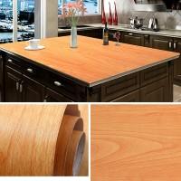 Wooden Pattern Multipurpose Bedroom Kitchen Decor Sticker - Camo Brown