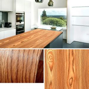 Wooden Pattern Multipurpose Bedroom Kitchen Decor Sticker - Coffee Brown