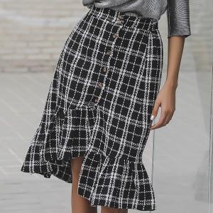 Geometric Printed Flare Women Fashion Skirt - Multicolor