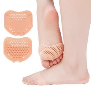 Non Slip Finger Shape Silicone Heel Anti Cracking Protective Cover - Skin