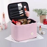 Zipper Closure Portable Travel Cosmetics Bag - Pink