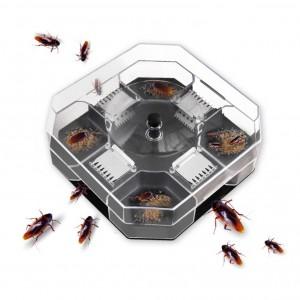 Household Automatic Cockroach Bug Catcher Box - Transparent