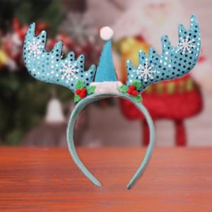 Christmas Dress Up Performance Cute Girl Headband - Blue