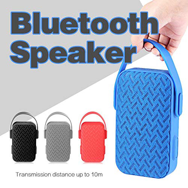 Portable Speaker With Bluetooth Wireless And Mic - Black
