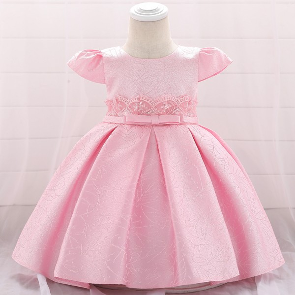Girls Evening Party Wedding Dress - Pink