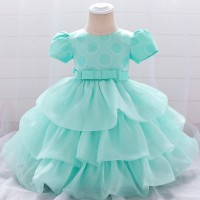 Princess Girls Wedding Kids Party Dress - Green