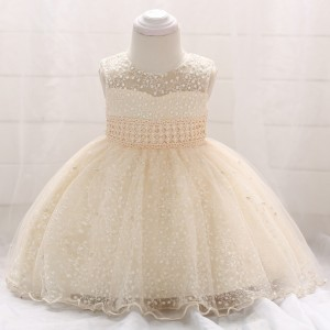 New Year Party Elegant Princess Dress - Champagne