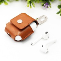 Leather Bluetooth Headphone Case - Brown