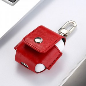 Leather Bluetooth Headphone Case - Red