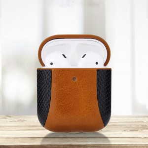 Color Matching Leather Bluetooth Headphone Case - Brown