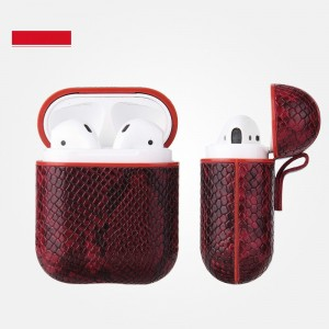 Leather Bluetooth Headphone Case - Wine Red