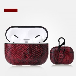 Bluetooth Airpods Case With Light Hole For Airpods Pro - Wine Red