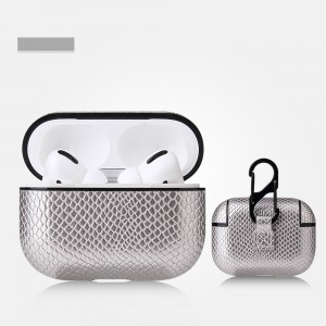 Bluetooth Airpods Case With Light Hole For Airpods Pro - Silver