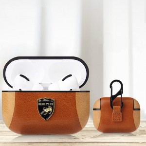 Luxury Bluetooth Case For Airpods Pro - Brown