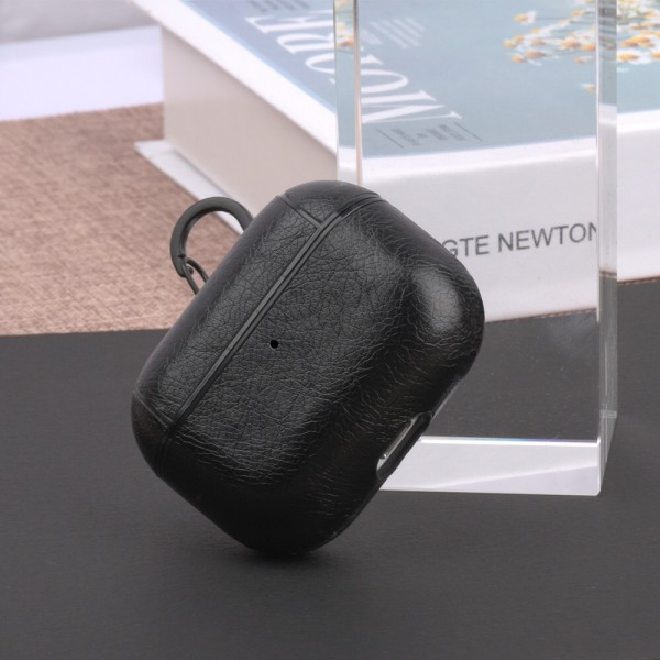 Leather Bluetooth Earpphone Case For Airpods Pro - Black