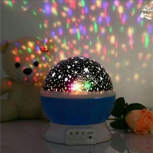 Romantic Moon Night Sky Stars Lights Projector - Blue