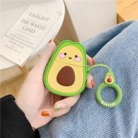 Cute Avocado Bluetooth Ear Pod Silicone Case Cover - Multi Color