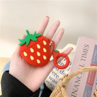 Strawberry Bluetooth Ear Pod Silicone Case Cover - Red