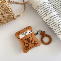koala Biscuit Design Silicone Case Cover For Bluetooth Airpods - Brown