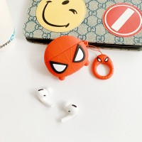 Spiderman Silicone Case Cover For Bluetooth Airpods - Red