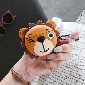 Lion Design Silicone Case Cover For Bluetooth Airpods - Multi Color