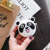 Panda Headset Silicone Case For Bluetooth Earpods - Black White
