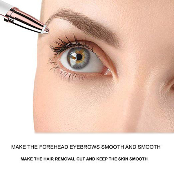 Easy Portable Eyebrow Hair Remover Trimmer - White