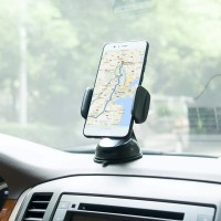 Universal Car Mobile Phone Silicone Sucker Portable Stand Holder - Black