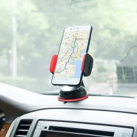 Universal Car Mobile Phone Silicone Sucker Portable Stand Holder - Red
