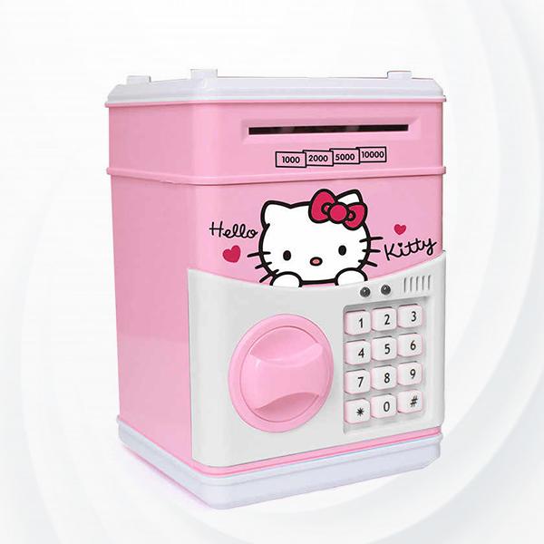 Money Saving Atm Box Safe Password Lock Voice Prompt - Pink