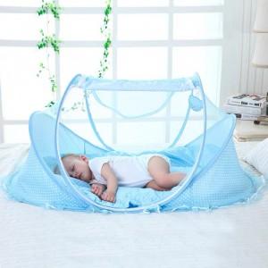 Baby Mosquito Net Set Kids Outdoor Tent - Sky Blue