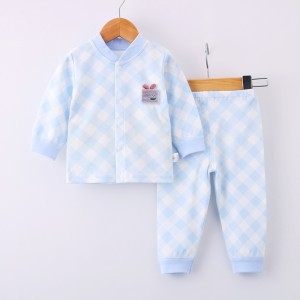 Kids Long Sleeve Matching  Set - Sky Blue