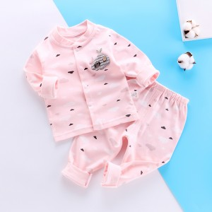 Childrens Long Sleeve Pajama Set - Pink