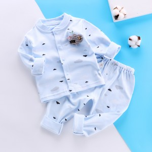 Childrens Long Sleeve Pajama Set - Sky Blue