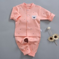 kids Long Sleeve Cotton Pajama Set - Pink