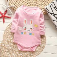 Newborn Baby Rompers Cartoon Jumpsuit - Pink