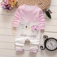 Baby Girls Long Sleeve Romper - Pink