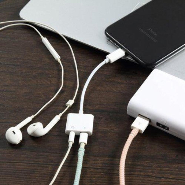 3 In 1 IPhone Lightning To Audio Jack & Charging Adapter
