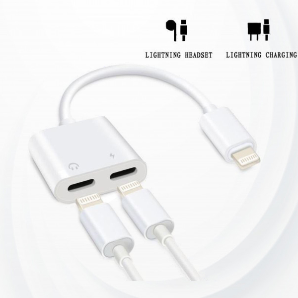 2 in 1 IPhone 7 8 X Splitter Dual Lightning Adapter