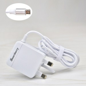 Fast Charging Adapter With Dual Usb Ports - White