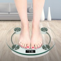 Digital Health Fitness Round Shape Weighing Scale 180 Kg - Transparent