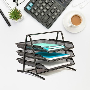 Creative Design Multifunctional 3 Tires Documents Tray - Black