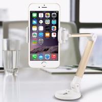 Quality Universal Long Handle Folding Smartphone Mount Holder - Golden