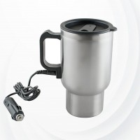 Stainless Steel Quick Heated Coffee Mug - Silver