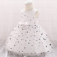 Wedding Party Kids Wear New Fashion Children Dress - White