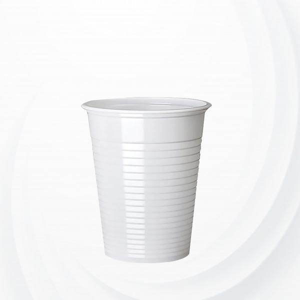 50 Pcs Disposable Plastic Cups 6 Oz - White